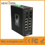 Controlado 8 gigabits Tx interruptor industrial do Ethernet do SFP de +4 gigabits