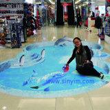 Fabrik-Zubehör fertigt Drucken-dekorativen Ausgangs-Belüftung-Fußboden-Aufkleber kundenspezifisch an