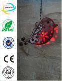 Decoratin를 위한 태양 에너지 램프를 가진 금속 새 모양 기술