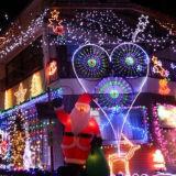 新しい設計されていたCe/RoHSの屋外の装飾のクリスマスのくものネットライト