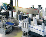 Máquina de etiquetado adhesiva automática llena de la etiqueta engomada de la botella redonda