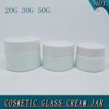 Kruik van de Room van het Glas van de Melk van de Cilinder van de luxe de Witte Opalen Kosmetische
