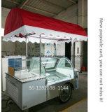 アイスキャンデーのアイスクリームのトロリー、眺めのアイスキャンデーのアイスクリームの販売のカート