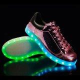 De kleurrijke Lace-up Waterdichte Duurzame LEIDENE van het Leer van de Schoenen Pu van de Dans Schoenen van de Verlichting