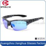Abrigo caliente de la vendimia de la venta alrededor de las lentes polarizadas marco negro de la lente del borde de las gafas de sol de la motocicleta de Rx medio