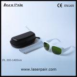 アプリケーション: 白いフレーム52とのIPL機械/セリウムEn169 IPLの安全ガラスEyewear 200-1400nm