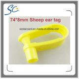 74*8mmのTPU材料が付いている動物のマークのヒツジの耳札