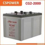 Batería solar del gel de la fuente 2V2000ah de China - gasolinera, sistema Telecom