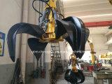 grúa de la manipulación de materiales de 1ton los 5m con el gancho agarrador con el certificado de la BV del ABS