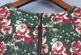 Camicia del `S delle donne stampata verde