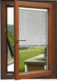 Finestra di alluminio della stoffa per tendine della rottura termica con la rete di zanzara