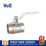 Valvola a sfera con la maniglia d'acciaio bianca (VG-A16202)