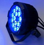 Водоустойчивый напольный свет РАВЕНСТВА 18*15W RGBWA+UV 6in1 СИД плоский тонкий