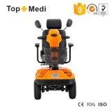 Topmedi Fahrzeug-Sitzbehinderter elektrischer Strom-Mobilitäts-Roller mit Markise und Motobike Ablagekasten