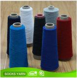 Hilado mezclado poliester reciclado del algodón para el calcetín