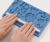 Прессформа Fondant силикона FDA/LFGB и затира камеди для украшения торта