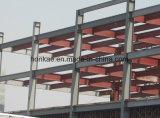 Magazzino d'acciaio della struttura con il rivestimento d'acciaio di colore