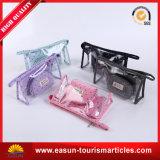 Bolsa de viagem cosmética transparente para PVC