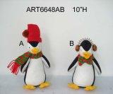 Pingüino del arte de la decoración de la Navidad, 2 Asst