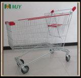 Cinc del carro de compras del supermercado de Cadde plateado con la capa de epoxy clara Mjy-Sec210