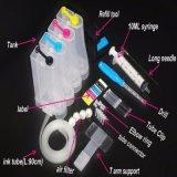 Kit universal continuo vacío de CISS 4color del sistema de fuente de la tinta con el tanque de la tinta de los accesorios para la carpeta de bombeo de la tinta del taladro de las impresoras
