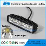 luz de trabalho do ponto da lâmpada da condução de veículo de 6-LED 18W para o jipe