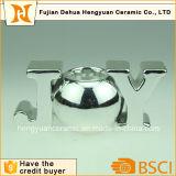 A prata da forma das letras galvaniza o suporte de vela para a decoração Home