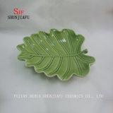 Color de Aspen del plato de cerámica de la hoja diverso y clasifica las hojas, plato de la cena