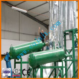 Raffinazione del petrolio di plastica residua di pirolisi del pneumatico alla pianta diesel