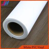 Vinilo brillante del PVC del blanco de la impresión de tinta del tinte