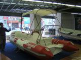 Barca gonfiabile della nervatura del piatto della vetroresina