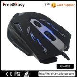 Цветастые мыши освещенные контржурным светом СИД USB кабеля с оплеткой разыгрыша или Mouses для компьютера