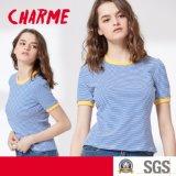T-shirt manches longues pour femmes Fashion Fashion Stripe