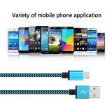 Usb-Ladung-Kabel erstklassiges Nylon geflochtener Hochgeschwindigkeits-USB-Mann zum Mikrob-Synchronisierungs-Daten-u. Ladung-Kabel für androide Samsung-Galaxie S7, S6, PS4, HTC, Fahrwerk, Sony, Blac