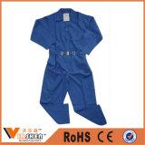 最も安いよい価格の安全つなぎ服のWorkwearが付いているポリエステル綿のCverallのWorkwearの青いつなぎ服