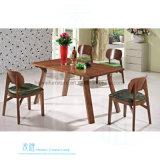 レストランの喫茶店(HW-639T)のための方法長方形の木のダイニングテーブル