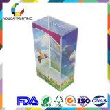 Sichtbar gemachter transparenter Plastikkasten mit Farben-Drucken