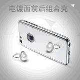 360 도 iPhone 7 더하기 도금 PC 미러 상자를 위한 Electroplated 미러 상자
