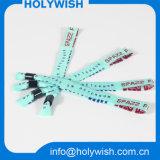 Hot Niza Poliéster Desechables Custom tejido partido Wristband