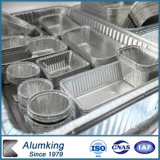 La promoción varios pedazos pila de discos el envase de almacenaje del papel de aluminio