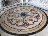 ロビーの床パターンのための円形ベージュ大理石のウォータージェットの円形浮彫り