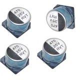 470 25V SMD Chip-elektrolytischer Aluminiumkondensator 5000 Stunde für LED-Industrie
