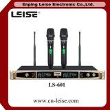 Ls-601 dual - microfone do rádio da freqüência ultraelevada da diversidade de Digitas da canaleta