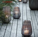 Vintage original com o punho de lanternas de madeira do Weave
