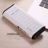 5 V 2.1A Portable 2 USB Power Bank avec LED Light pour iPhone Samsung Mobile