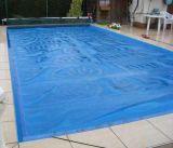 Acero inoxidable ajustable Piscina cubierta Piscina rodillo swimmng piscina cubierta del carrete con las ruedas