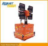 Tour d'éclairage mobile de DEL avec le mât télescopique hydraulique