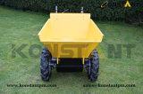 Моторизованная тележка навоза Dumper кургана колеса микро-