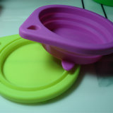Recipiente Eco-Friendly do silicone com tampa