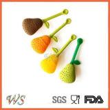 Commestibile del setaccio del tè del silicone del filtrante del tè di Infuser del tè della pera Ws-If053